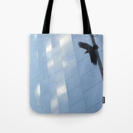 Covid Shadow Flying Across Aon Center Tote Bag