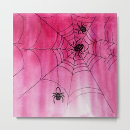 Spidery Web Metal Print