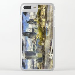 The River Thames And City Art Clear iPhone Case