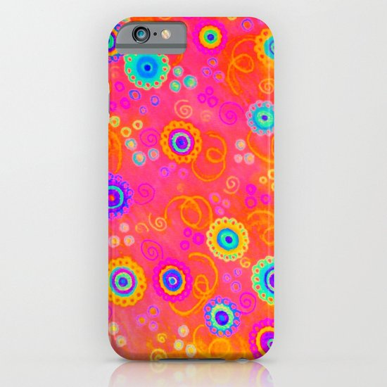 SWIZZLE STICK - Sweet Cherry Red Fruity Candy Swirls Abstract Watercolor Painting Feminine Art iPhone & iPod Case