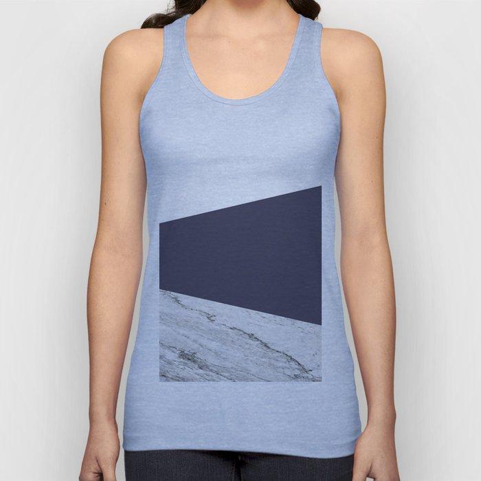 Marble Eclipse blue Geometry Unisex Tank Top