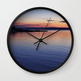 A sunset view of Ballyholme Wall Clock