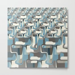 Abstract Shapes Metamorphosis Metal Print