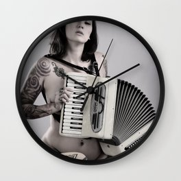 Accordion is Apealing Wall Clock