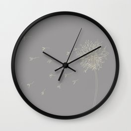 Dandelion in the wind Wall Clock