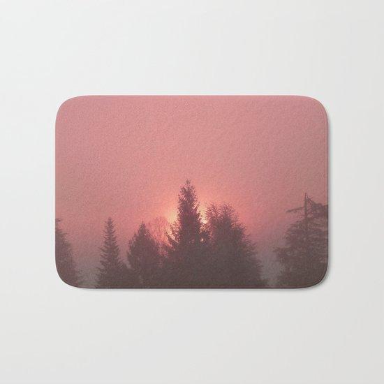Sunrise on a foggy morning Bath Mat