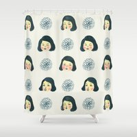 girly Shower Curtains featuring Girly : 소녀감성 by Young Ju