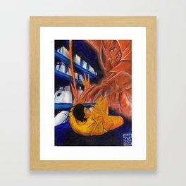 Watch out! Framed Art Print