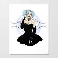 goth Canvas Prints featuring Goth Pinup by CatAstrophe