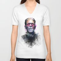 frank V-neck T-shirts featuring Frank by Saje Gary
