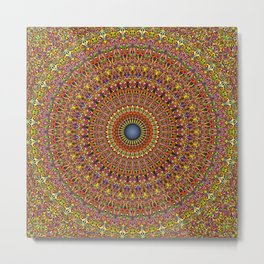 Magic Ornate Garden Mandala Metal Print