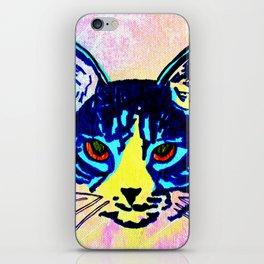 Pop Art Cat No. 2 iPhone Skin