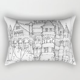 Red Museum Dallas! Rectangular Pillow