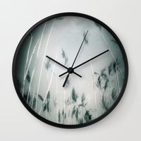 lou reed Wall Clocks featuring reed by Dorit Fuhg
