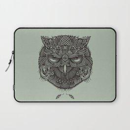 Warrior Owl Face Laptop Sleeve