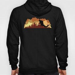 Godzilla versus King Kong cityscape Hoody