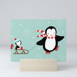 Sled Ride Mini Art Print