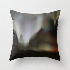 Golden World Landscape Throw Pillow