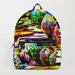 Talavera Pottery Jars for Sale in New Mexico Backpack