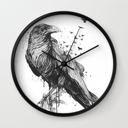 Born to be free (bw) Wall Clock