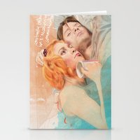 eternal sunshine of the spotless mind Stationery Cards featuring Eternal Sunshine of the Spotless Mind by reviandana