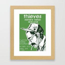 Gig Poster - October 15th THIEVES // SANDRA LARKIN // ANTI-ONE Framed Art Print