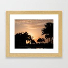 Sunrise Miami Framed Art Print