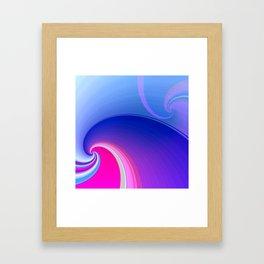 Ride the Wave (purple) Framed Art Print