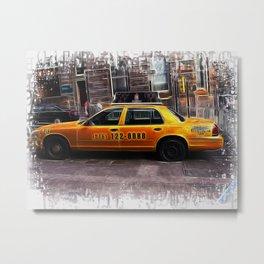 World War Z Taxi Cab Metal Print
