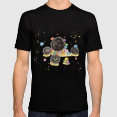 Hungry Soot Sprites  Black Mens Fitted Tee MEDIUM