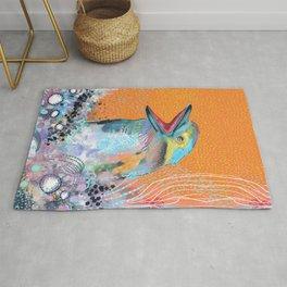 Abstract kookaburra bird Rug