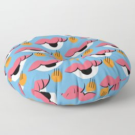 I see a kiss Floor Pillow