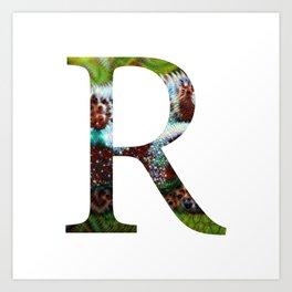 """Initital letter """"R"""" Art Print"""