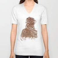 starwars V-neck T-shirts featuring StarWars Chewbacca by Burnish and Press