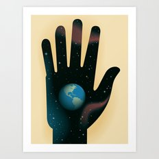 Hand of Creation Art Print