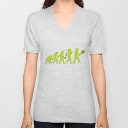 Evolution of Tennis Species Unisex V-Neck
