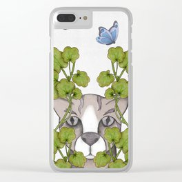spying cat Clear iPhone Case
