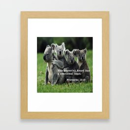 Proverbs 15:15 Framed Art Print