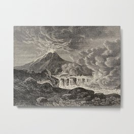 The infinitely great and the infinitely little - Félix Pouchet - 1874 Ink Volcano Illustration Metal Print