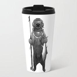 Harpoon Fishing Bear Travel Mug