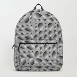 Gray volumetric drops on a rainy background. Flat design of water and drops for paper. Backpack