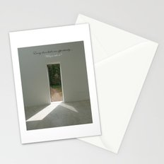 Every door is an opportunity will you take it? - quote Stationery Cards
