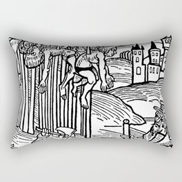 Vlad the Impaler and his victims Rectangular Pillow