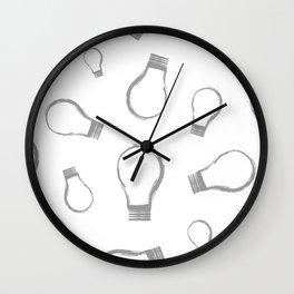 Light Bulb Silver Wall Clock