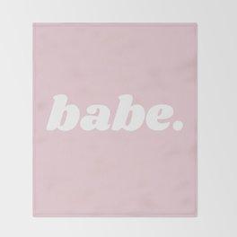 babe Throw Blanket