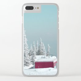 Winter day Clear iPhone Case