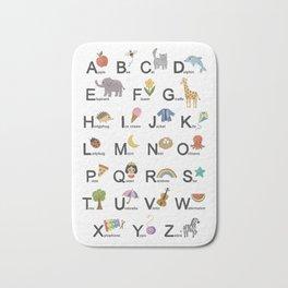 Alphabet for children Bath Mat