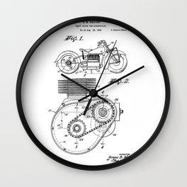 Motorcycle Patent Art Wall Clock