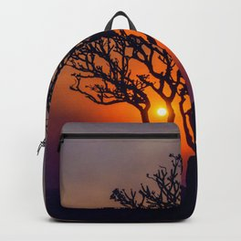 A Sunset Silhouette in Hampi, India Backpack