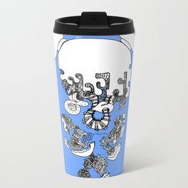 Pieces Away ( Blue) Metal Travel Mug